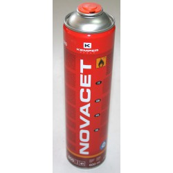 600 ml Novacet cylinder (330 g) with external threaded safety valve.