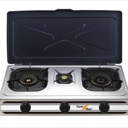 3 burners gas stove.